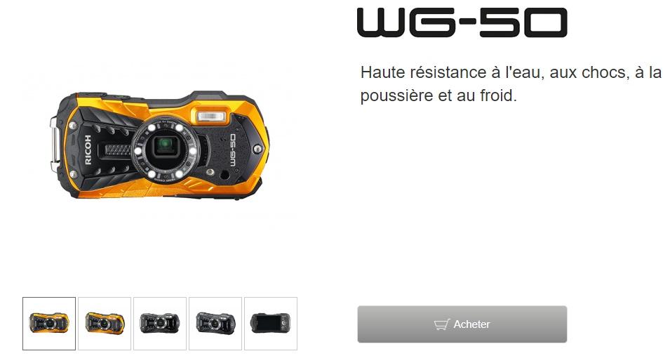 Fil dédié au Ricoh WG-50 et au WG-60 Wg5001